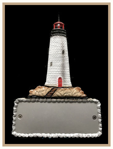 Aluminum Lighthouse Decorative Address Plaque - Broward Casting