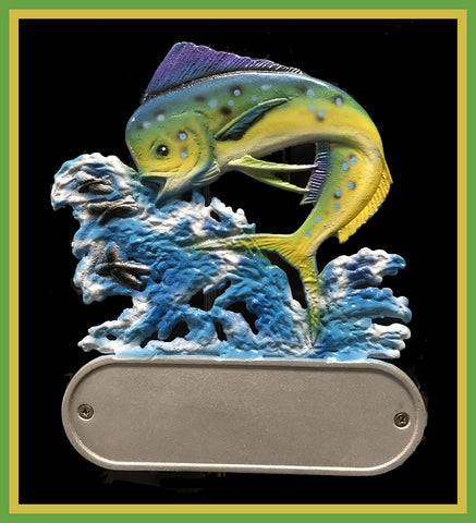 Aluminum Mahi Dolphin Decorative Address Plaque - Broward Casting