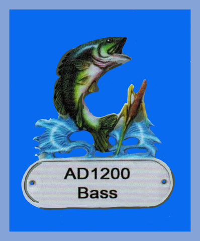 Cast Aluminum Bass Decorative Address Plaque