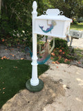CUSTOM PAINTED MERMAID w/Mermaid Inserts HIGH QUALITY CAST ALUMINUM MAILBOX - Broward Casting