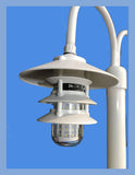 7',8' or 9' ALUMINUM ROUND POST WITH DOUBLE PAGODA DOCK LIGHT