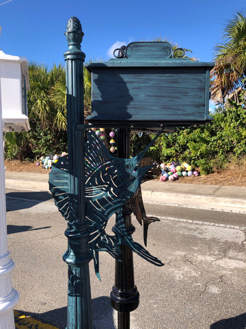SAILFISH HIGH QUALITY CAST ALUMINUM MAILBOX