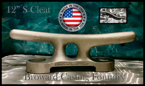 "ALUMINUM ""S"" DOCK CLEATS *FREE SHIPPING* - Broward Casting"