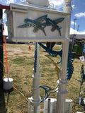 CUSTOM PAINTED Waterjet SAILFISH w/Fly Fish Inserts HIGH QUALITY CAST ALUMINUM MAILBOX