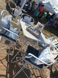 Cast Aluminum Fish Series Outdoor Bar Table and Chairs