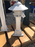"1"" or 3' ALUMINUM ROUND POST WITH PAGODA DOCK LIGHT"