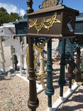 CUSTOM PAINTED SAILFISH w/flying fish Inserts HIGH QUALITY CAST ALUMINUM MAILBOX