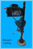 SAILFISH w/Sailfish inserts HIGH QUALITY CAST ALUMINUM MAILBOX - Broward Casting