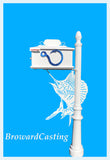 SAILFISH w/Blue Hook Inserts HIGH QUALITY CAST ALUMINUM MAILBOX