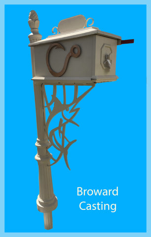 WATERJET MARLIN w/Hook inserts HIGH QUALITY CAST ALUMINUM MAILBOX