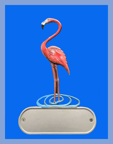 Cast Aluminum Flamingo Decorative Address Plaque