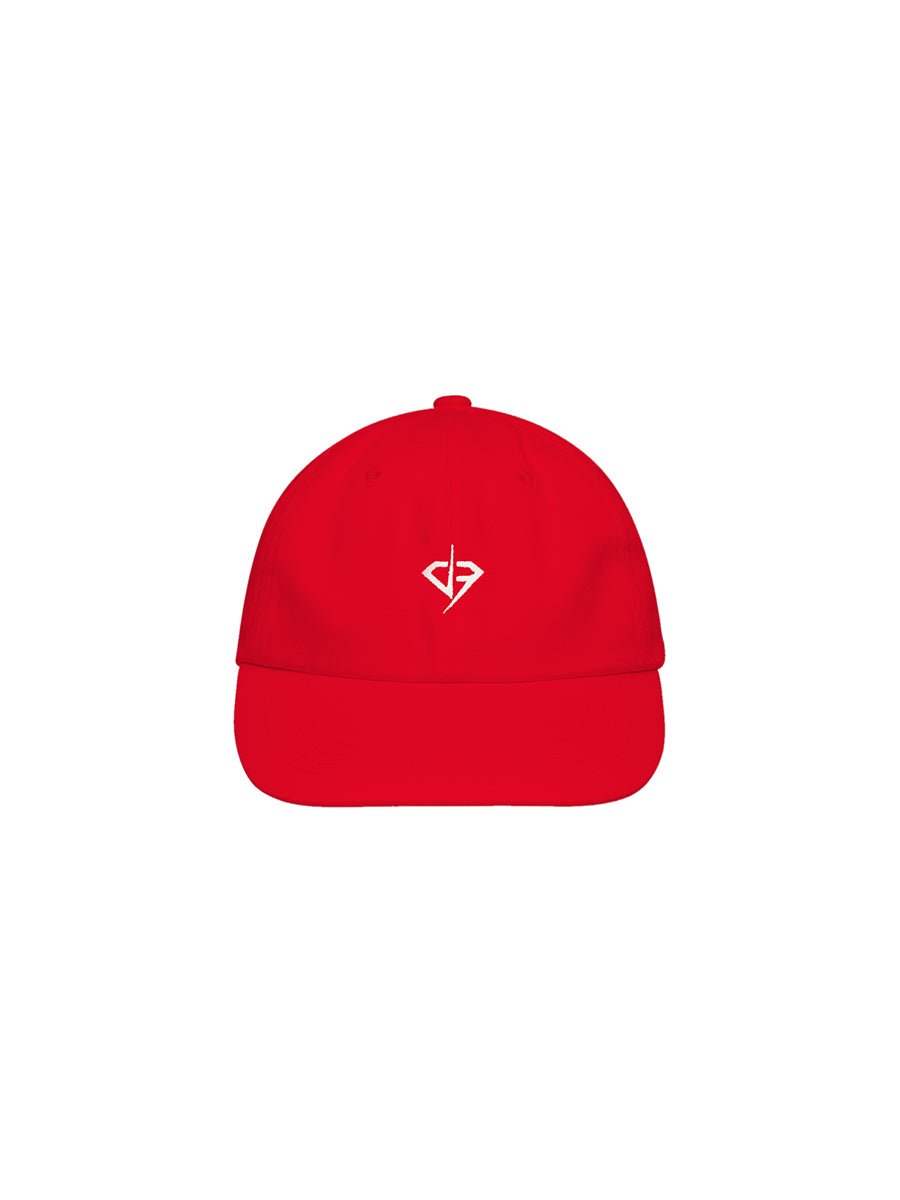 Vintage Red Cap - White Logo