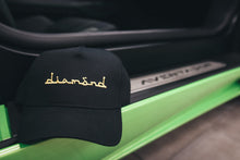 Black Cap - Gold Diamond Text