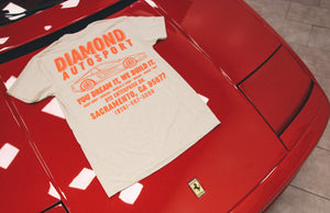 Mechanic Vintage T-Shirt - Orange Print