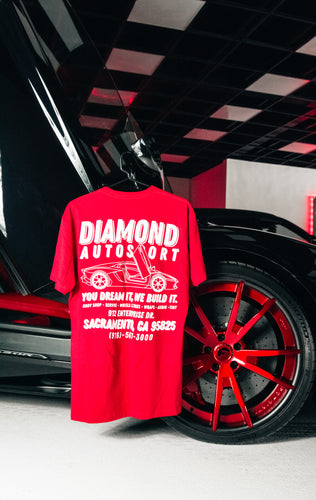 Diamond Auto Aventador Red Tee