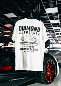 Diamond Auto Aventador White Tee