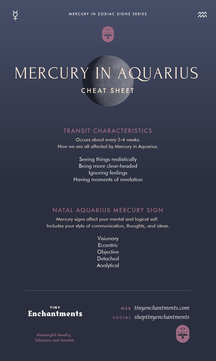 Aquarius & Mercury - Aquarius Mercury Sign and Mercury in Aquarius Transit Meanings