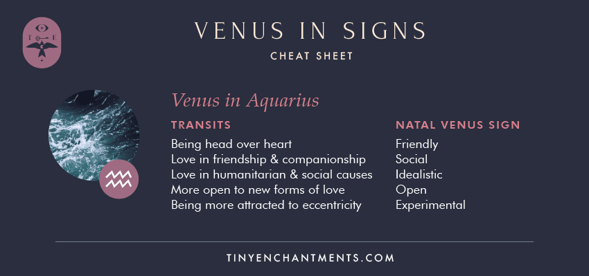 Venus in Aquarius / Aquarius Venus Sign