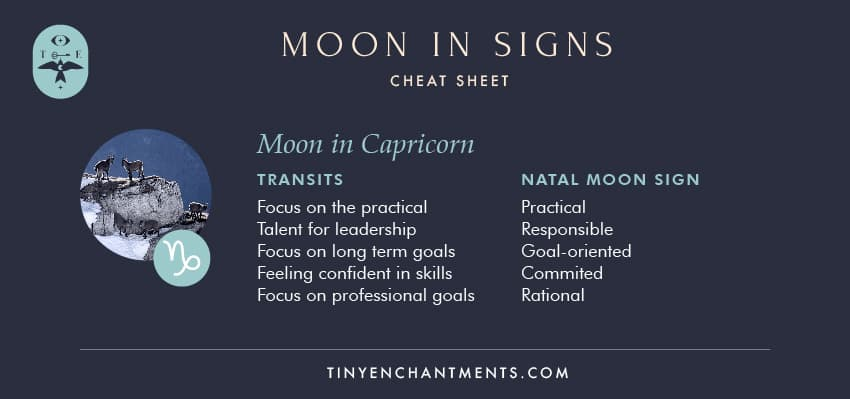 Moon in Capricorn / Capricorn Moon Sign Meaning Personality
