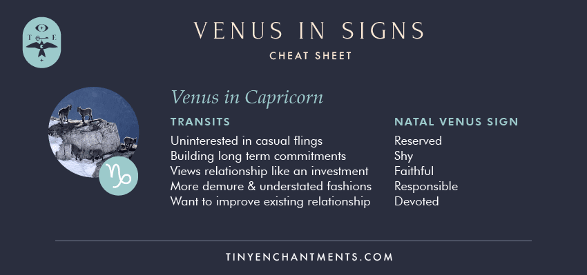 Venus in Capricorn / Capricorn Venus Sign