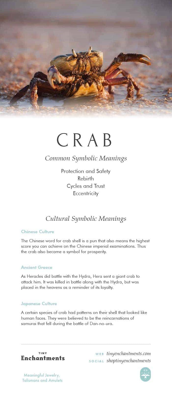 Crab Symbolism - Crab Dream Meaning, Crab Mythology and Crab Spirit Animal Meanings Full Infographic