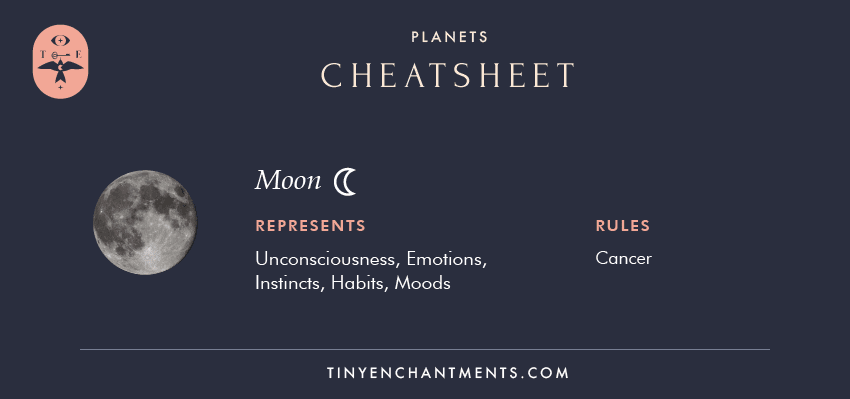 The moon planet in Astrology & moon Sign Meaning
