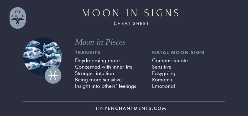 Moon in Pisces / Pisces Moon Sign Meaning Personality