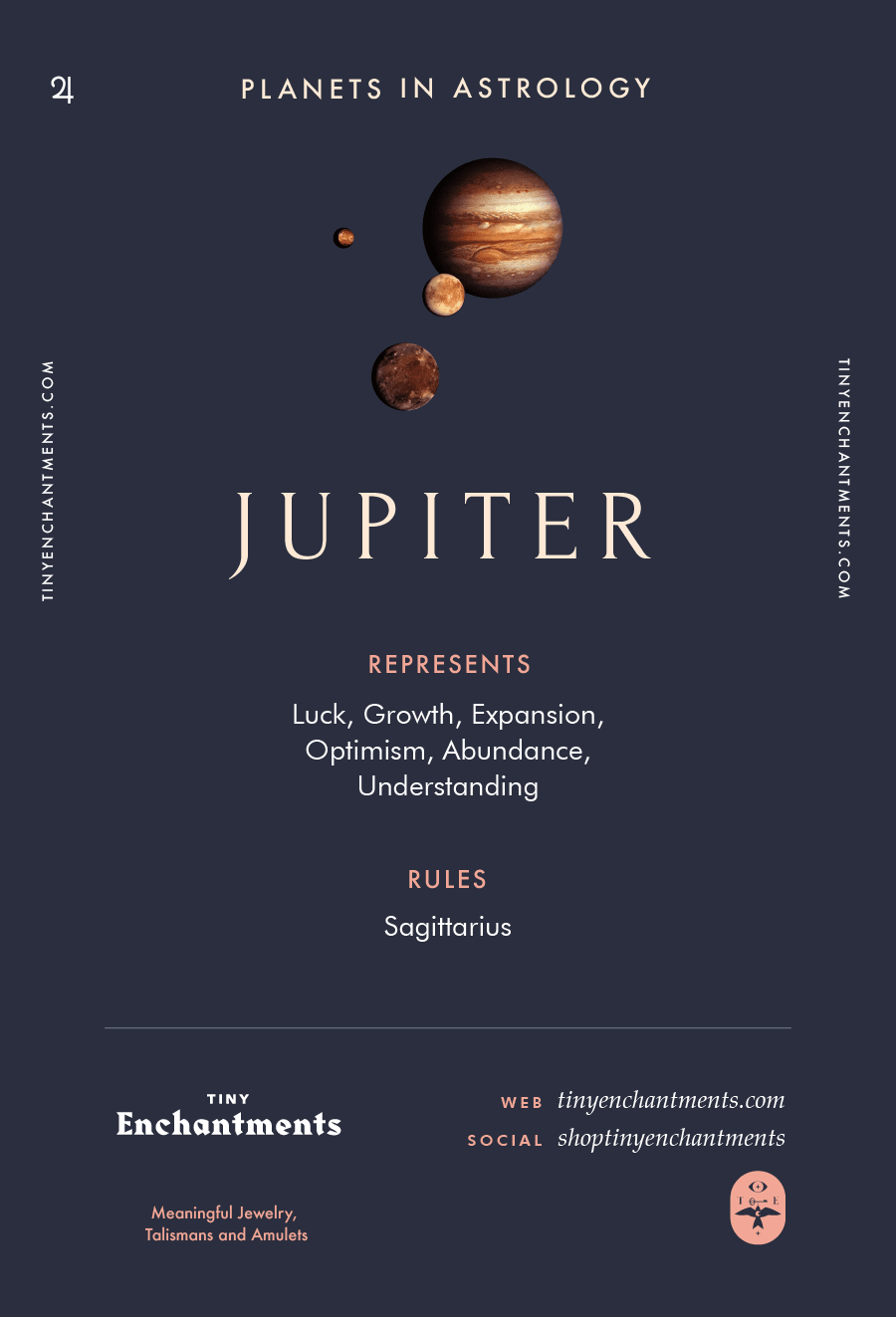Jupiter Sign in Astrology - Planet Meaning, Zodiac, Symbolism, Characteristics Infographic