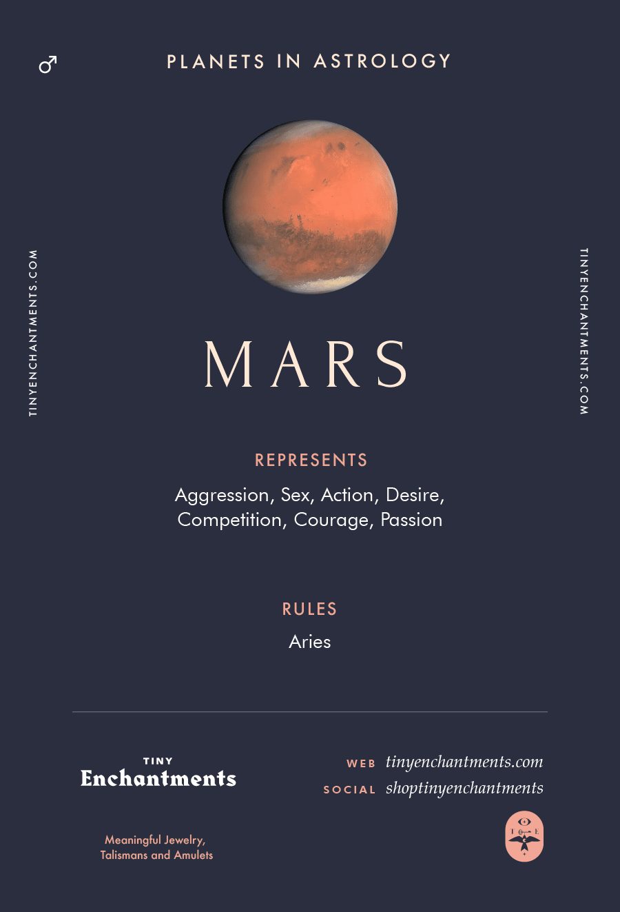 Mars Sign in Astrology - Planet Meaning, Zodiac, Symbolism, Characteristics Infographic