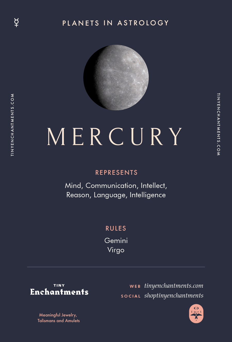 Mercury Sign in Astrology - Planet Meaning, Zodiac, Symbolism, Characteristics Infographic