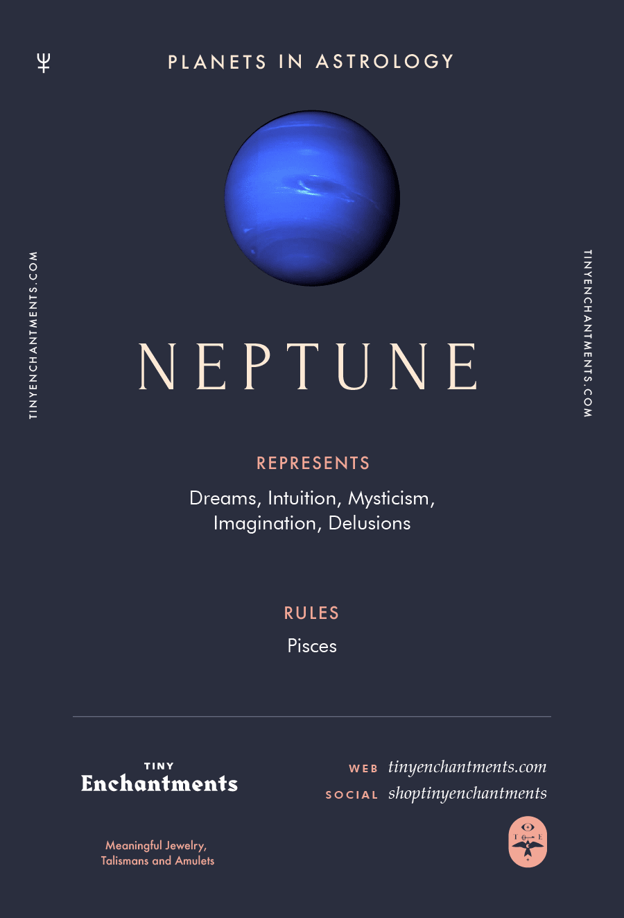 Neptune Sign in Astrology - Planet Meaning, Zodiac, Symbolism, Characteristics Infographic