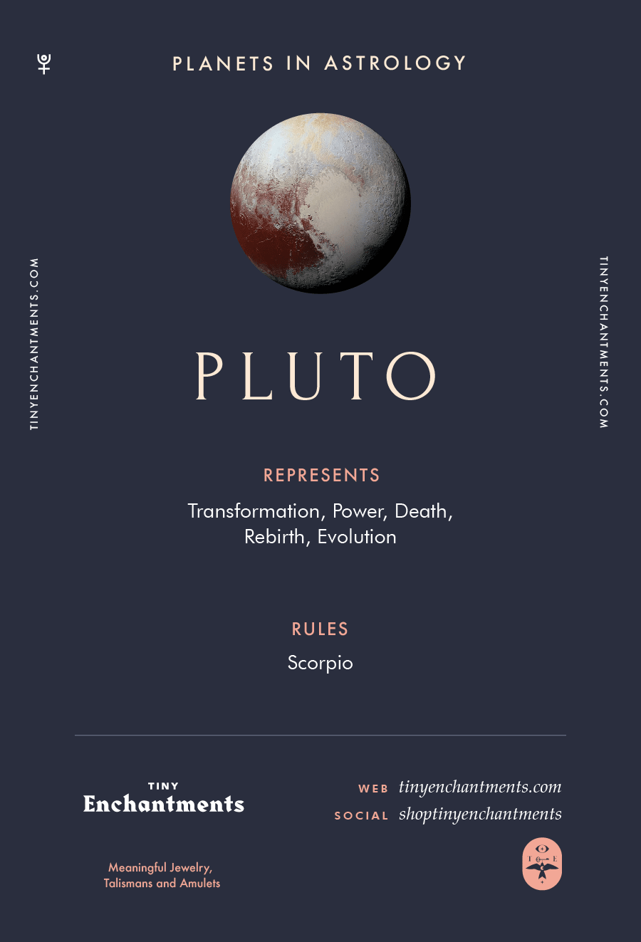 Pluto Sign in Astrology - Planet Meaning, Zodiac, Symbolism, Characteristics Infographic
