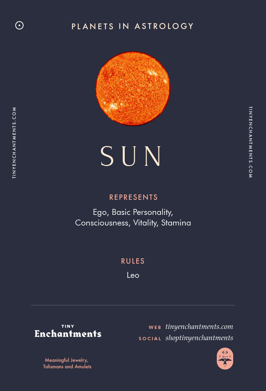 Sun Sign in Astrology - Planet Meaning, Zodiac, Symbolism, Characteristics Infographic