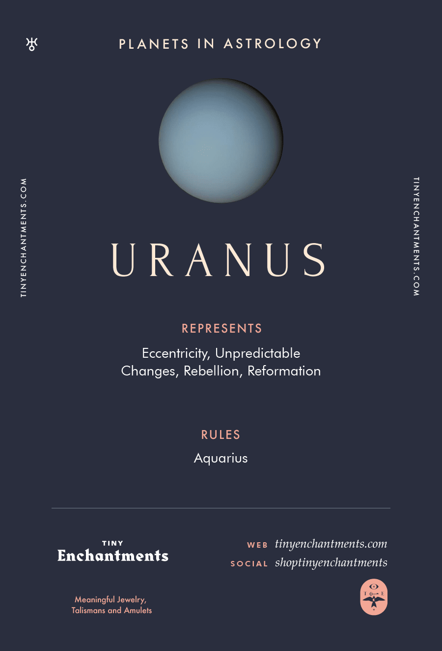 Uranus Sign in Astrology - Planet Meaning, Zodiac, Symbolism, Characteristics Infographic