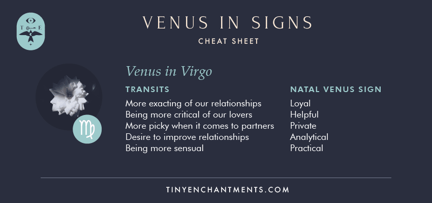 Venus in Virgo / Virgo Venus Sign