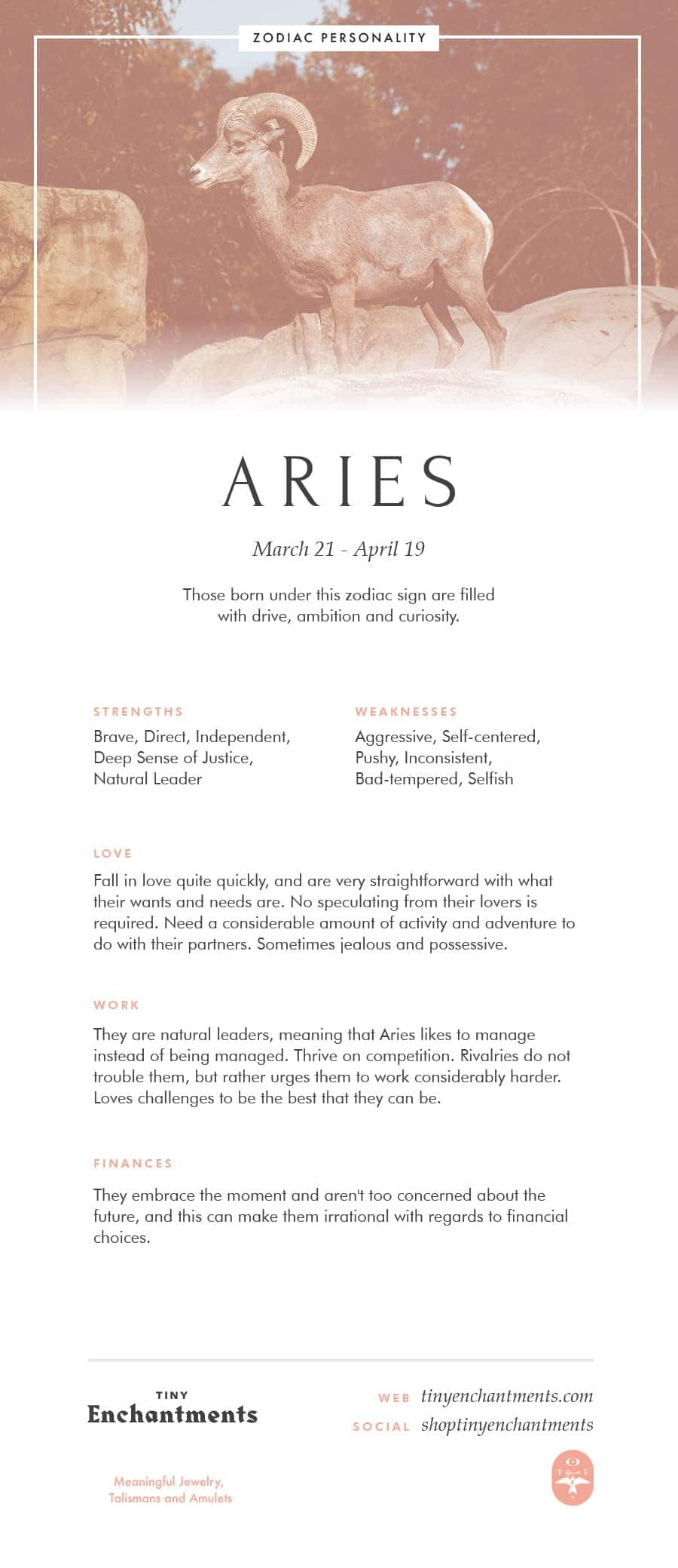 Aries Zodiac Sign Correspondences - Aries Personality, Aries Symbol, Aries Mythology and Aries Meaning