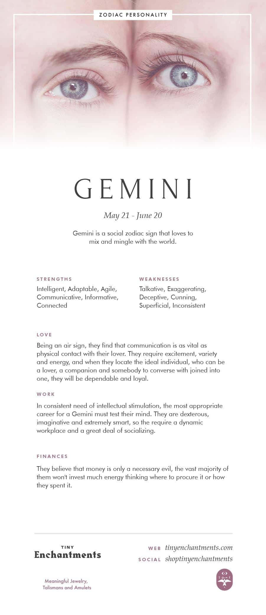 Gemini Zodiac Sign Correspondences - Gemini Personality, Gemini Symbol, Gemini Mythology and Gemini Meaning