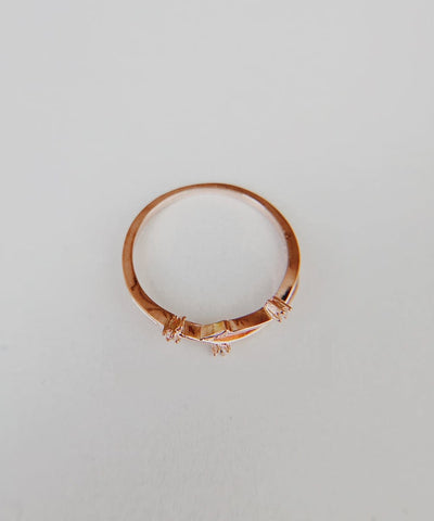 Magnolia Stacking Ring - Rose Gold Minimalist, Dainty, Thin, Stackable, Delicate, Flower, Cubic Zirconia Ring - Magnolia Stacking Ring - Rose Gold Minimalist, Dainty, Thin, Stackable, Delicate, Flower, Cubic Zirconia Ring