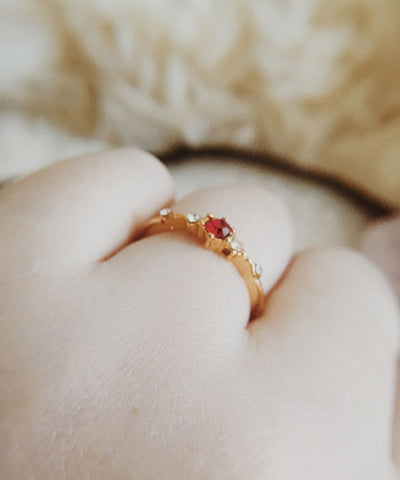 Themis Stacking Ring - Red Gemstone, Ruby Red, Minimalist, Dainty, Simple, Slim, Thin, Gold, Stackable, Delicate, Marquis, Cubic Zirconia Ring, CZ - Themis Stacking Ring - Red Gemstone, Ruby Red, Minimalist, Dainty, Simple, Slim, Thin, Gold, Stackable, Delicate, Marquis, Cubic Zirconia Ring, CZ
