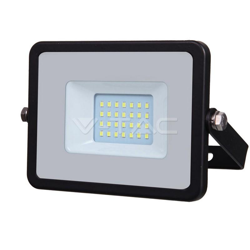 20W LED Floodlight SMD SAMSUNG Chip Slim Black Body 6400K