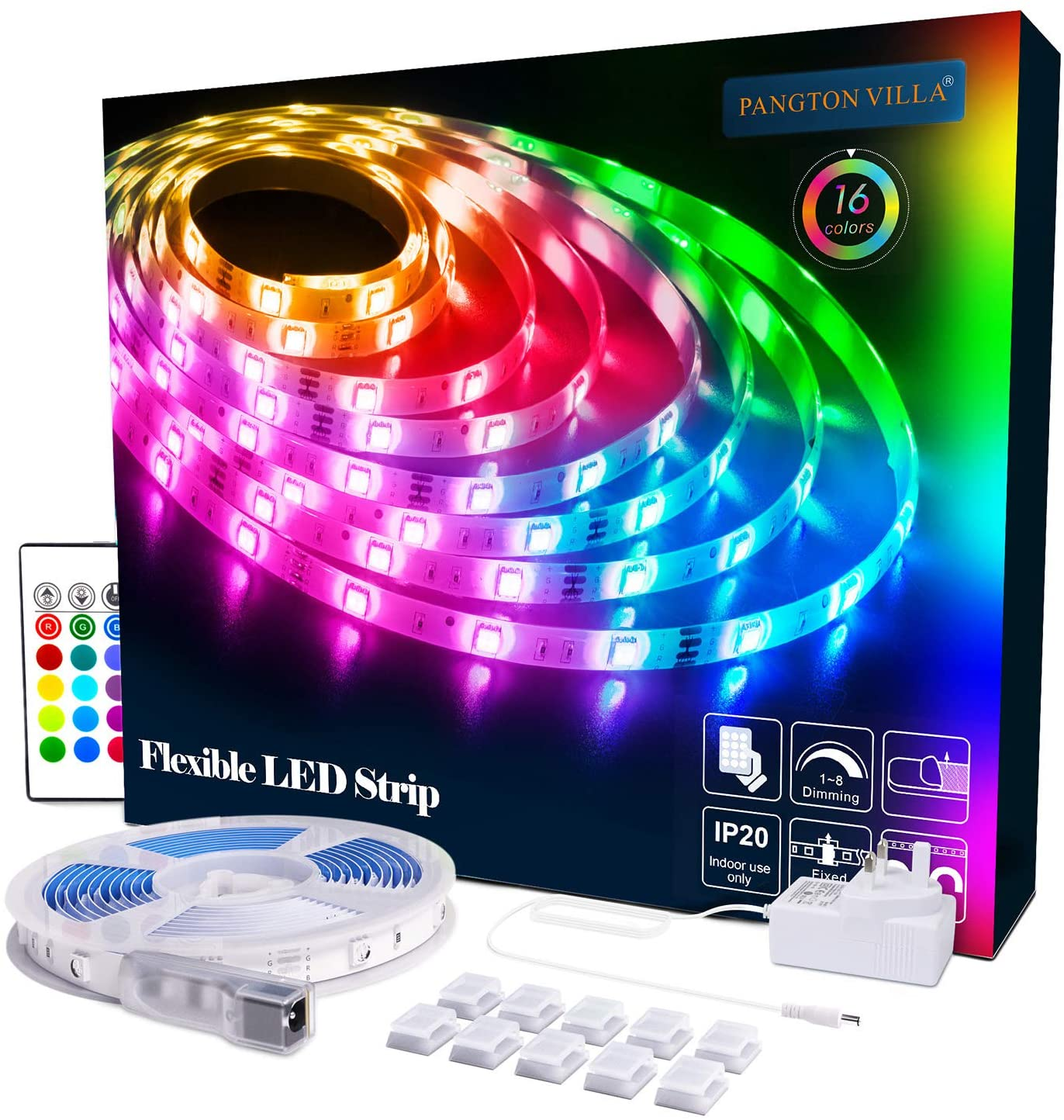 Pangton RGB LED Strip IP20 5m
