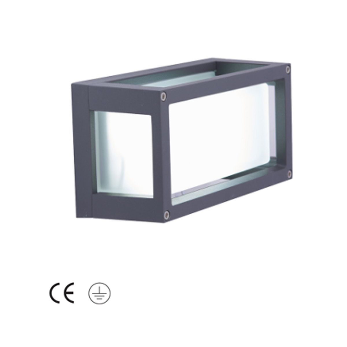Volant LED Square Wall Light - Glass