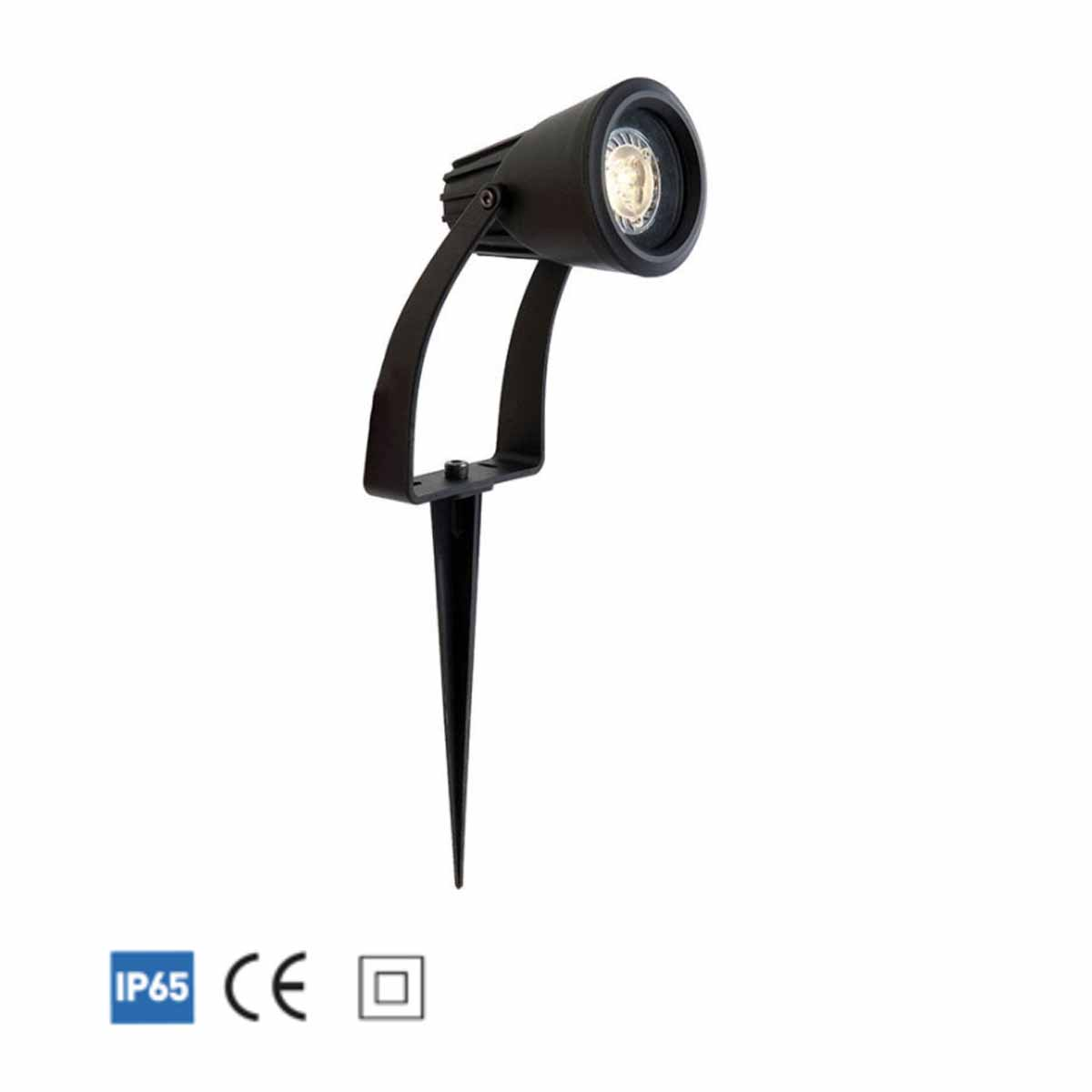 FLORA GU10 LED DUAL PURPOSE SPOTLIGHT 5W BLACK