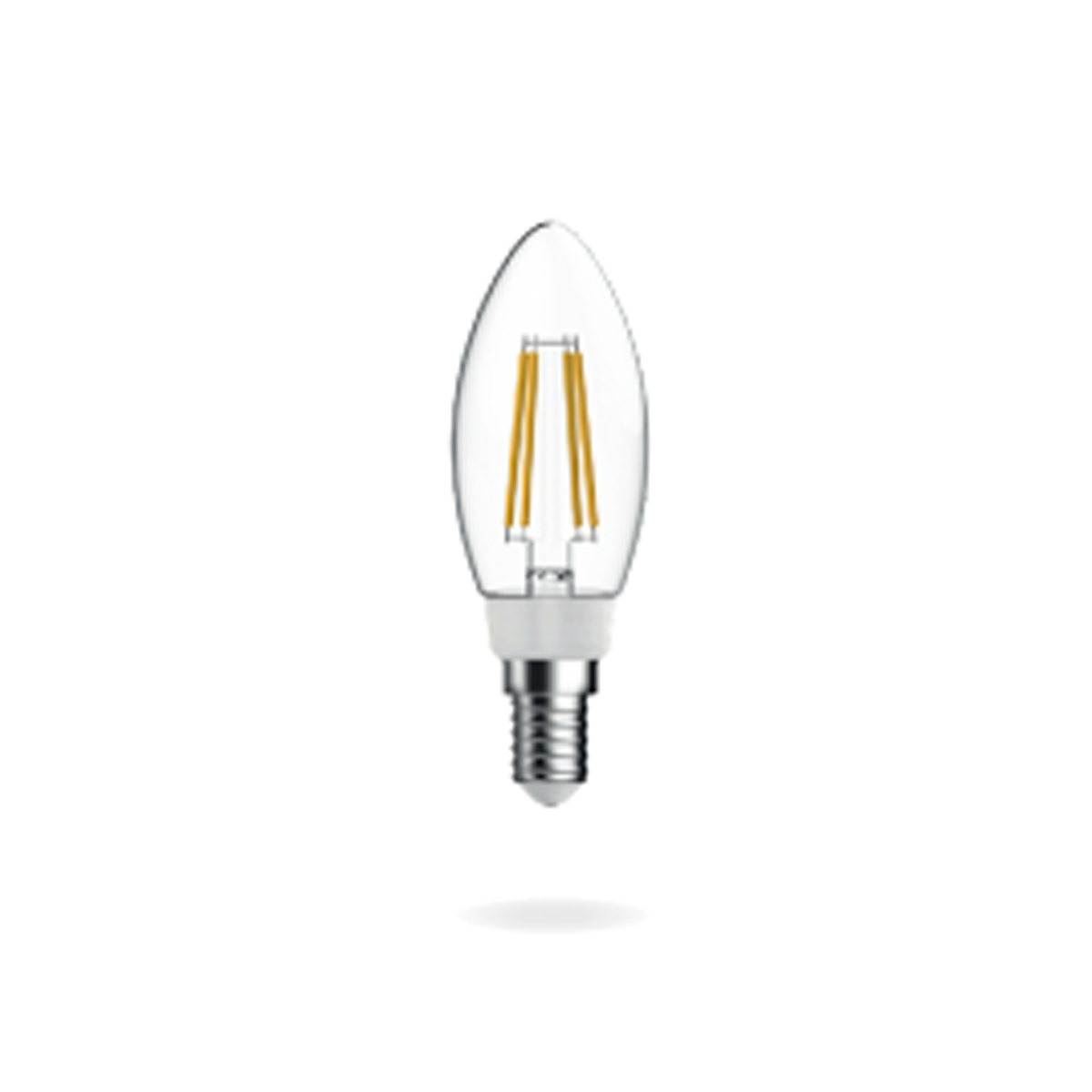 Candle Filament Bulb E14 - Cool White Dimmable.
