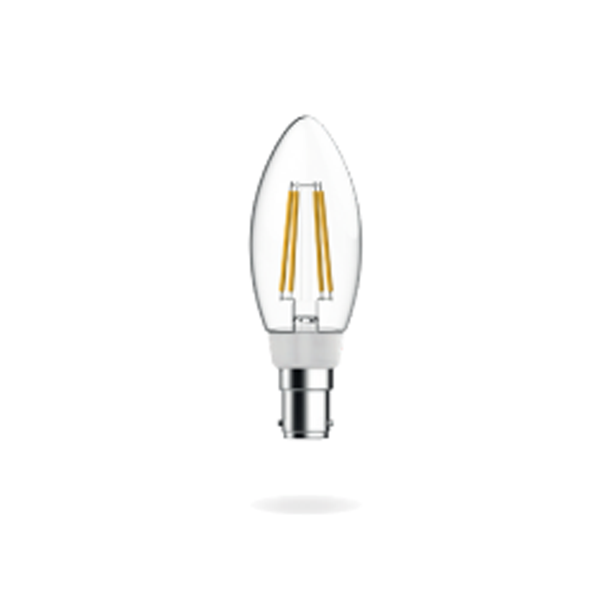 Candle Filament B15 - Cool White Dimmable.