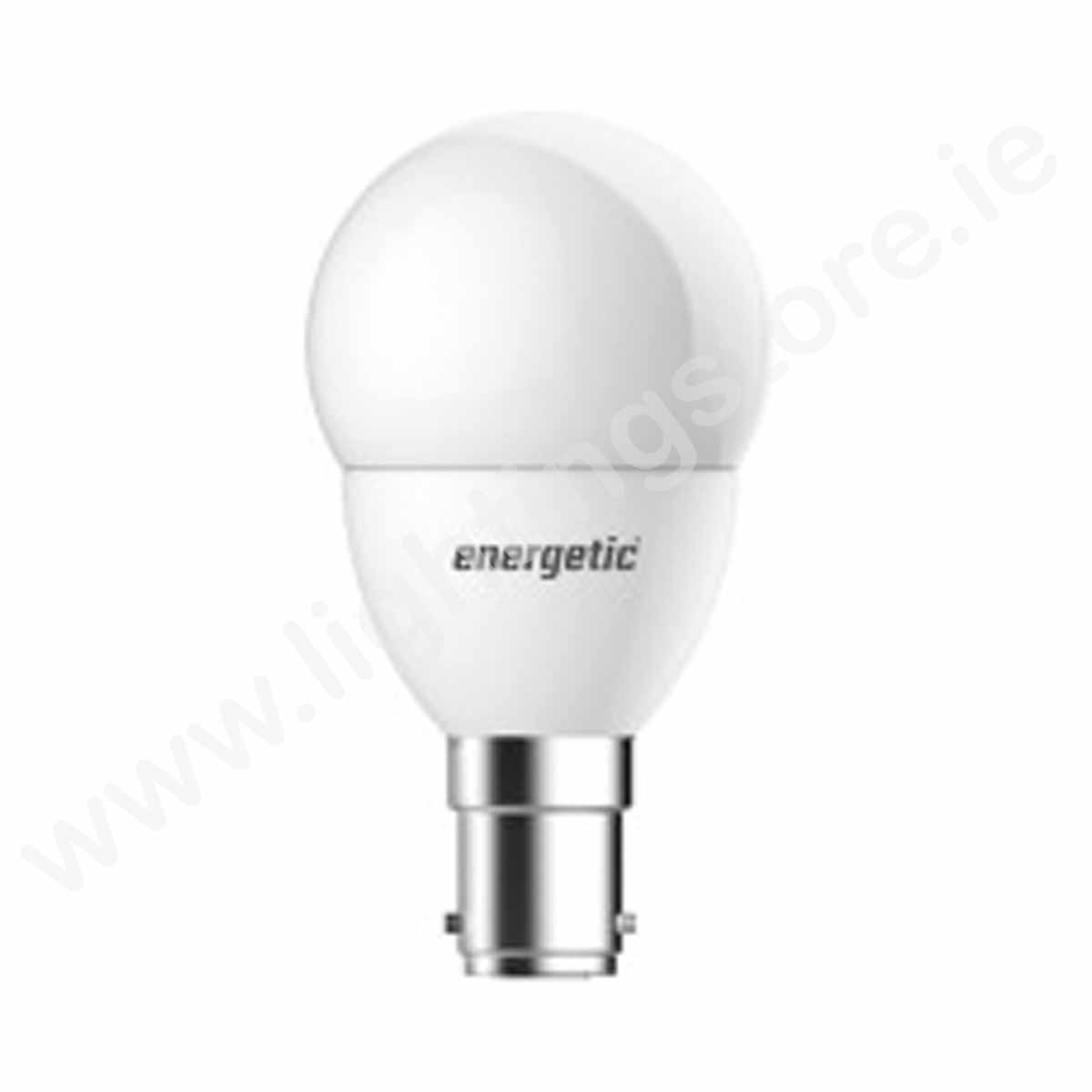 ENERGETIC B15 FROSTED GOLF BALL 5.9W 470LM WARM WHITE / NON-DIMMABLE