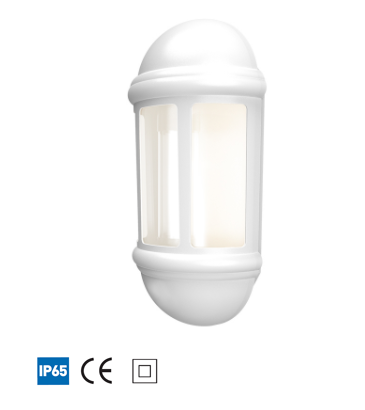 Latina LED Half Lantern - White