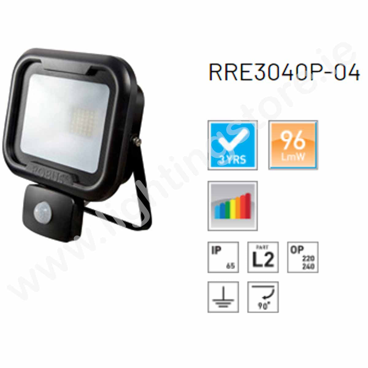 Robus Remy 30W LED Floodlight with PIR