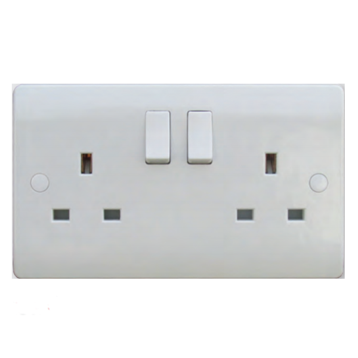 S-Line 2 Gang 13a Switched Socket Double Pole