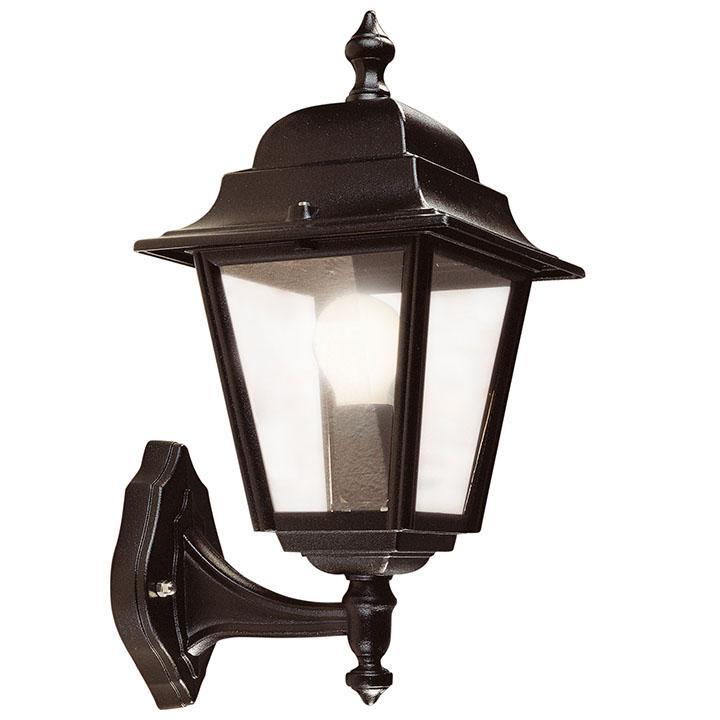 Nizza Wall Lantern (Bottom Arm) Black